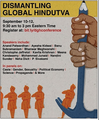 Heat and dust over international conference on 'Dismantling Global Hindutva' beginning today