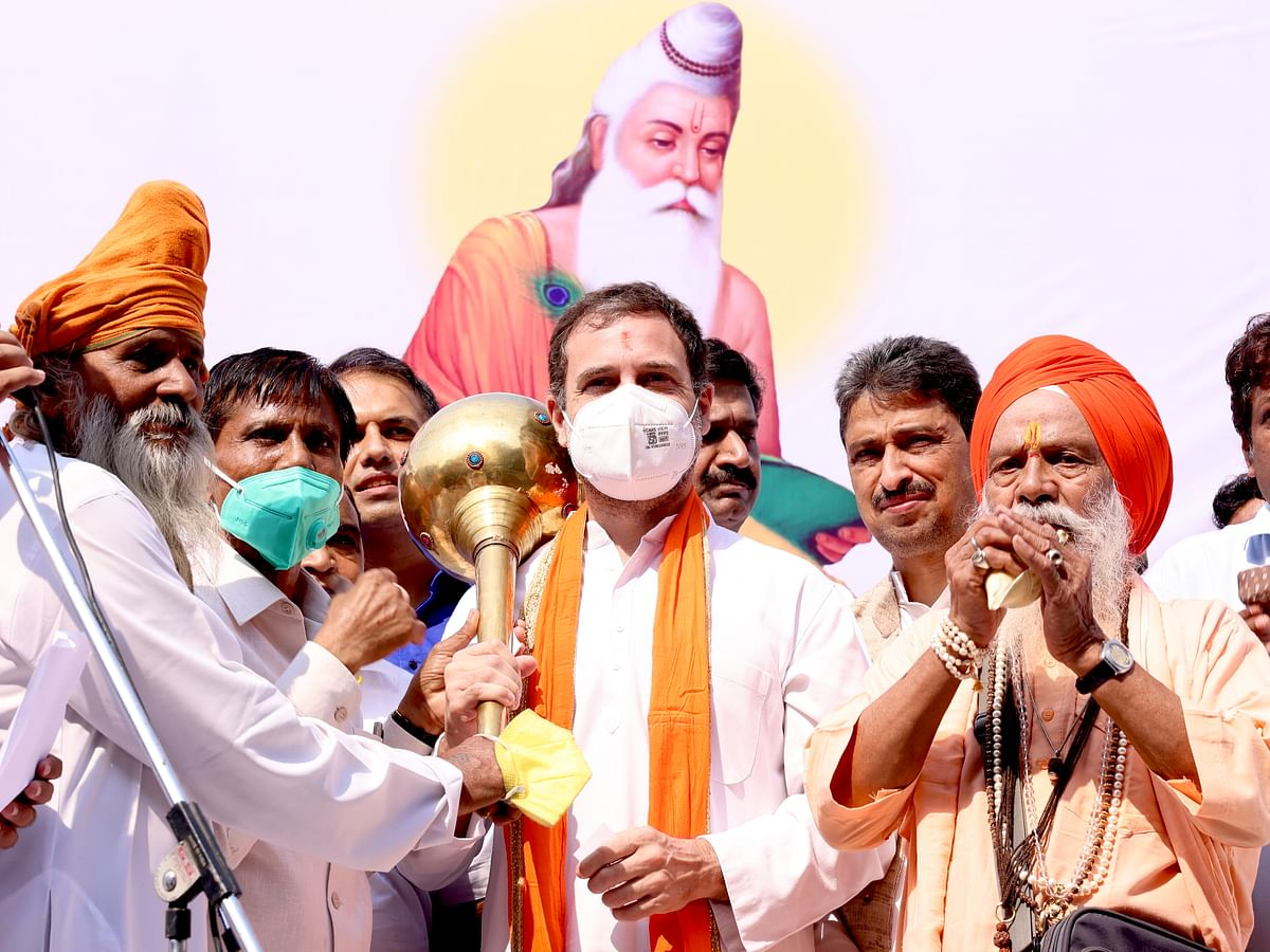 Our Constitution formed by Valmiki's ideology, says Rahul Gandhi; flags off 'Shobha Yatra'