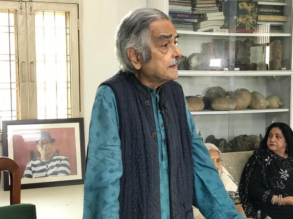Veteran poet, painter and art critic Prayag Shukla