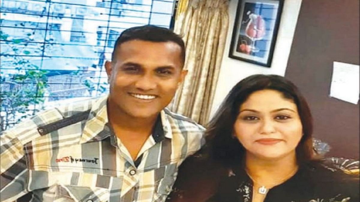 Fletcher Patel with a woman he called 'My lady don' in his social media post
