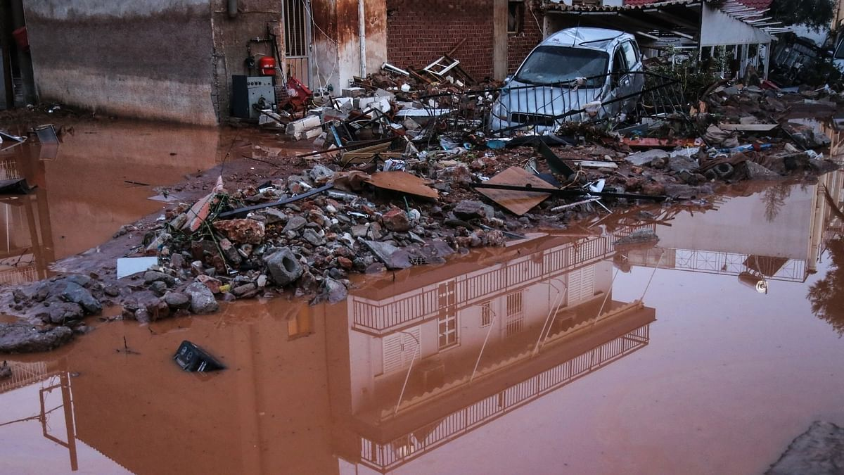 Greece swept by torrential rains, 100 people evacuated in fire-stricken island