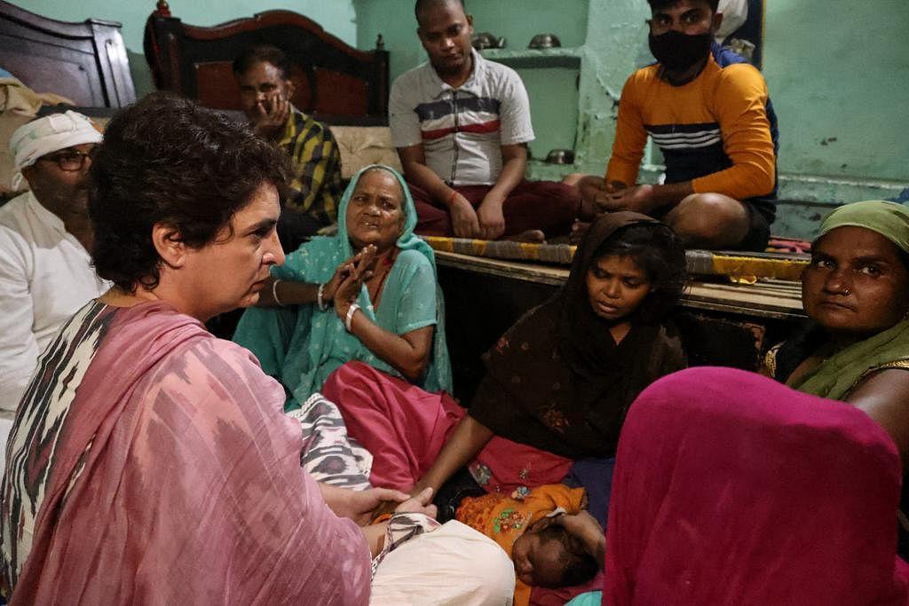 Priyanka Gandhi meets family members of man who died in police custody in Agra