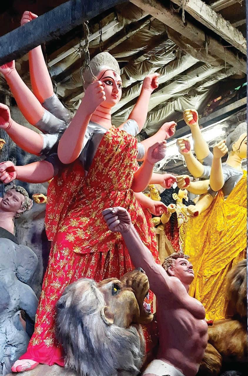 Welcoming Ma Durga-What goes into making 'Protima' for the Puja