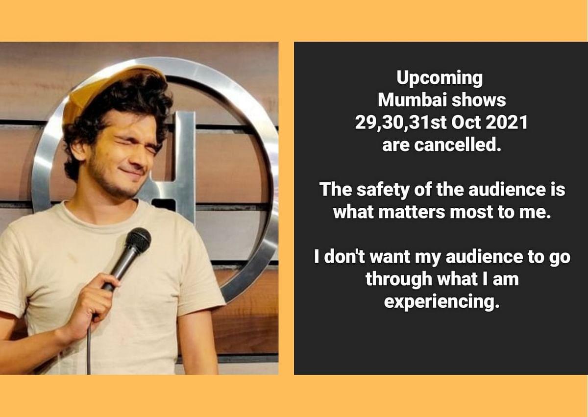 Munawar Faruqui cancels Mumbai shows