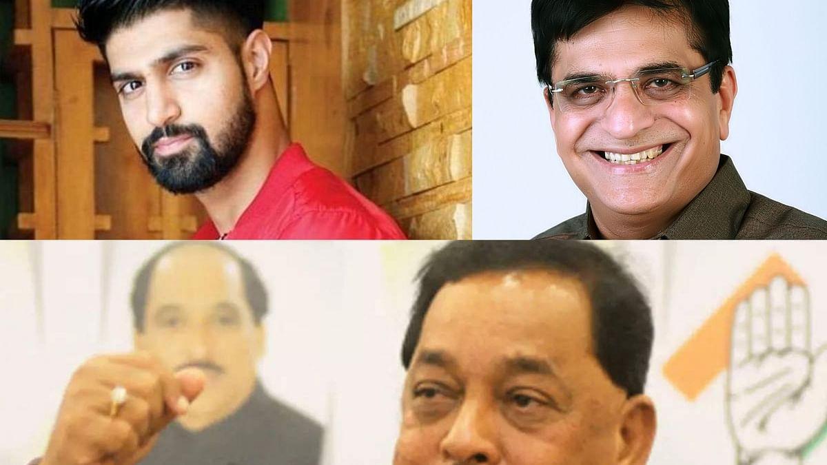 Tanuj Virwani(left), Kirit Somaiya and (below) Narayan Rane