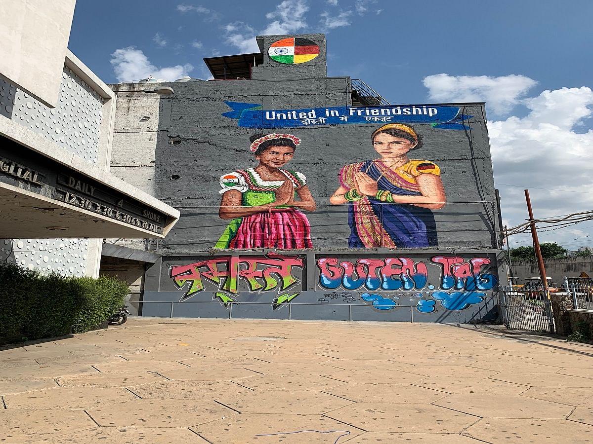 German Envoy Walter J Lindner unveils unique graffiti in Delhi symbolising India-Germany friendship