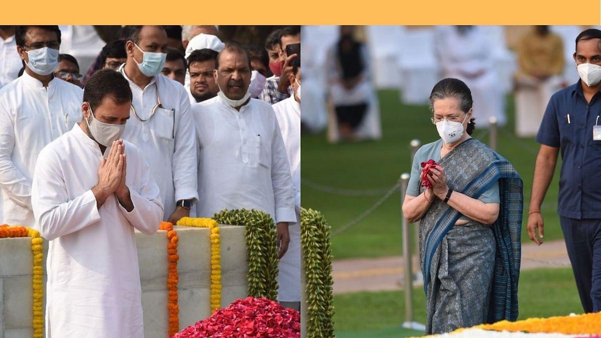 Sonia, Rahul pay tributes to Mahatma Gandhi, Lal Bahadur Shastri on their birth anniversaries