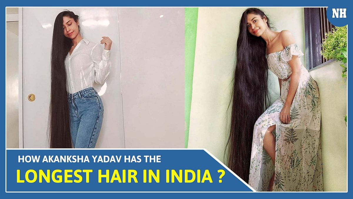 Meet Akanksha who holds the title for longest hair in India with over 9-feet long hair