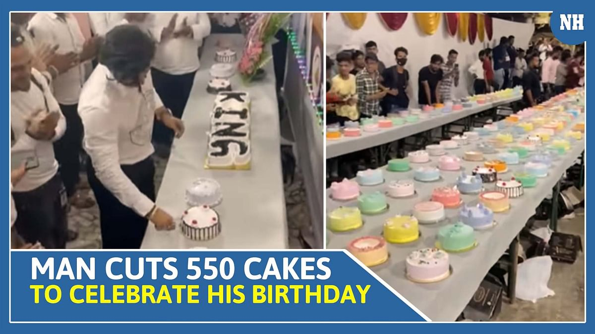 Man Cuts 550 Cakes to celebrate his birthday, video goes viral