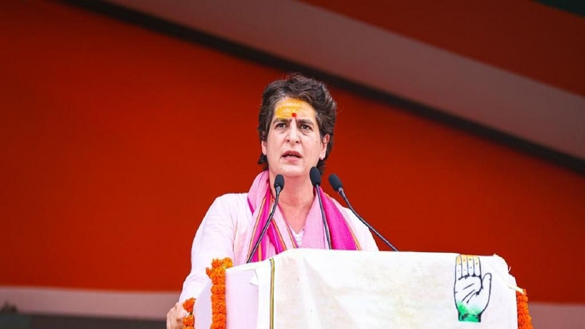 Priyanka Gandhi begins UP campaign with blistering attack on BJP