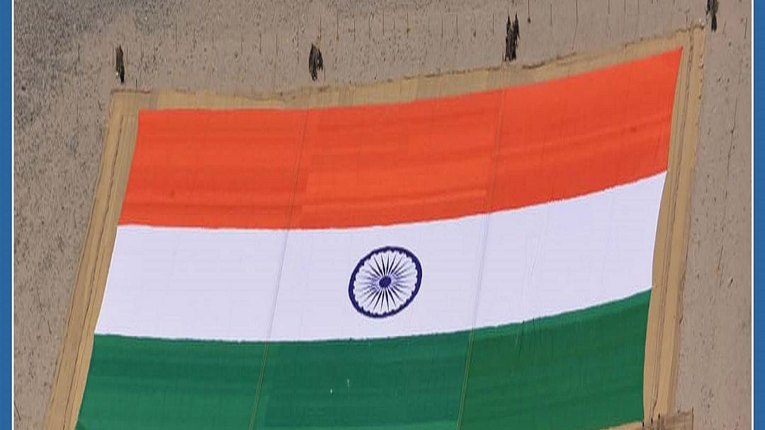 WATCH: World's largest khadi National Flag unveiled in Leh