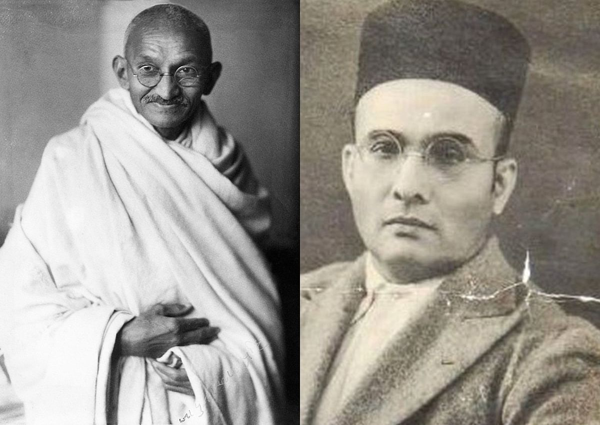 Savarkar, who hated Gandhi and was himself hated by RSS, now needs both