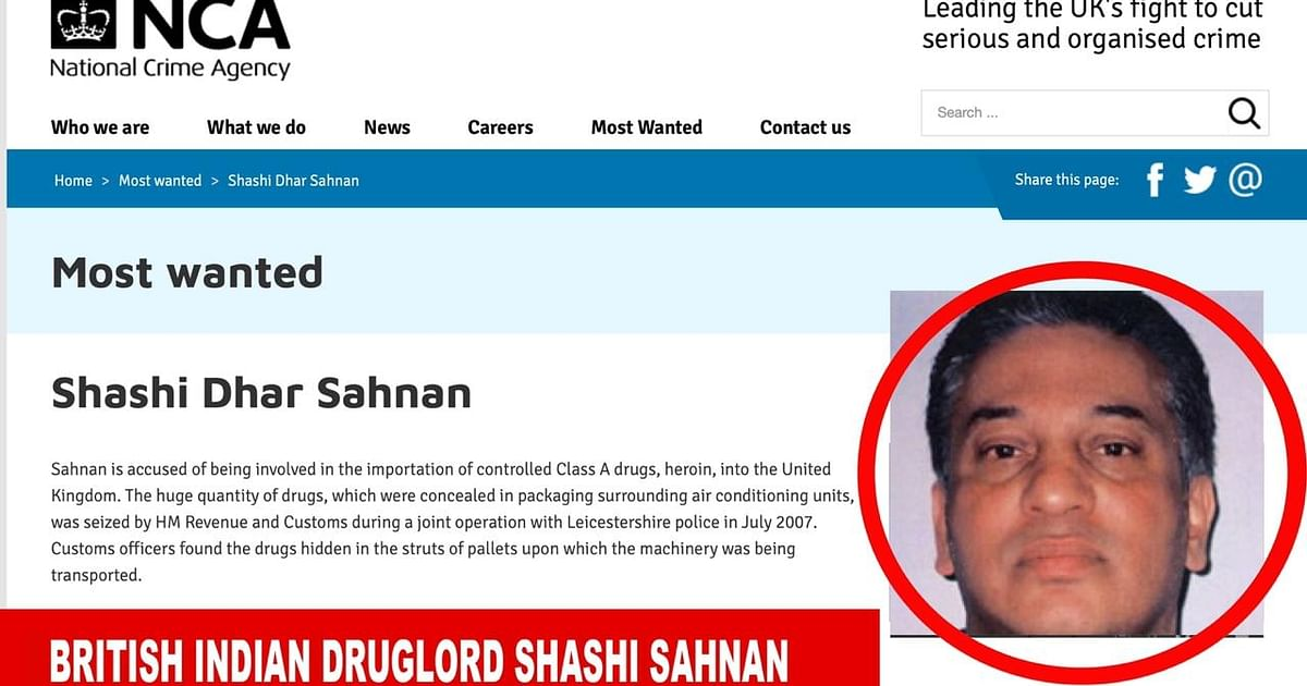 Photo of UK's most wanted: India-born Sahnan runs much bigger drug ops than D-company in Europe