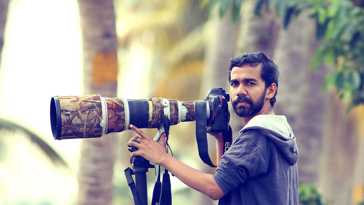 Travel and wildlife photographer Jimmy Kamballur is from Kottayam