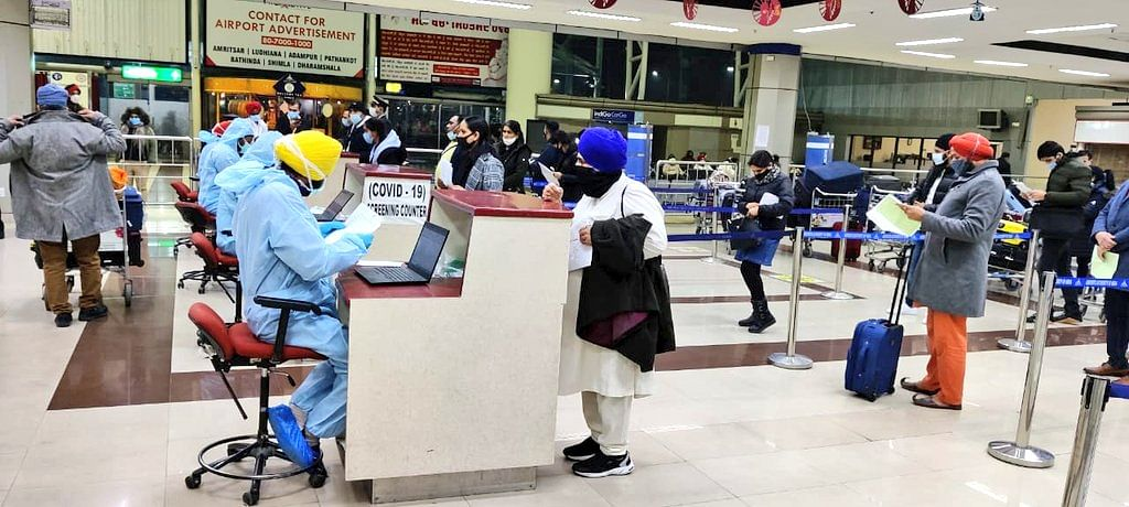 Covid testing delays passengers by 12 hours at Amritsar airport, while relatives protest outside