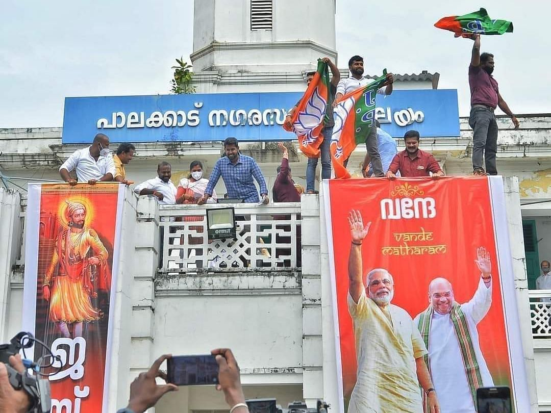 Kerala police files case against BJP workers for hanging religious banner on Municipality building