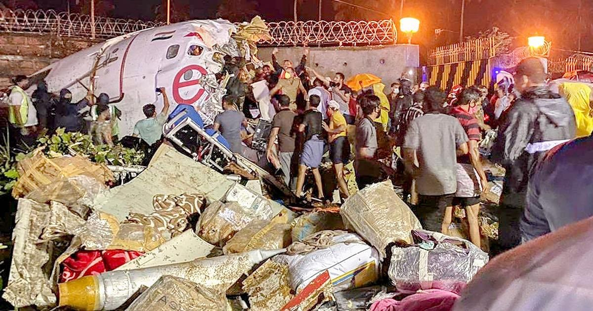 Locals rushed to the crash site to help with rescue and evacuation of passengers