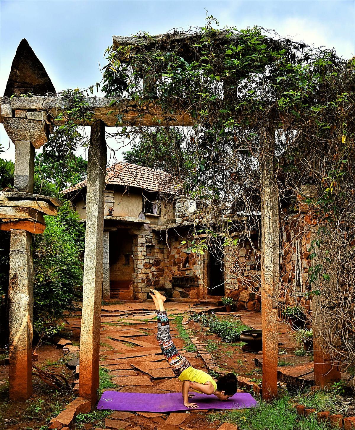 Nrityagram, a dance school on the  outskirts of Bangalore