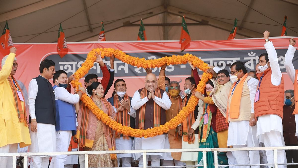 As Amit Shah enters West Bengal, 11 MLAs join BJP ahead of assembly elections