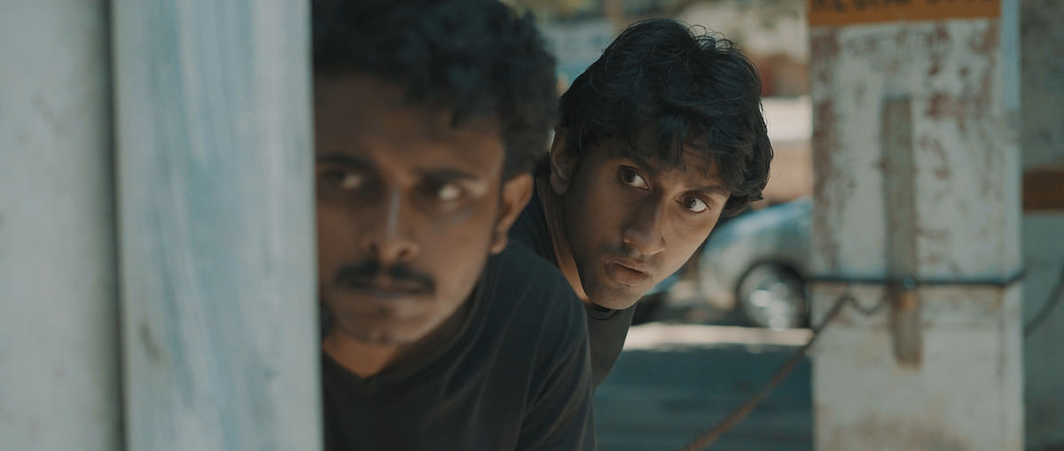 Arjun (left) and Akhil (right) in a still from the movie