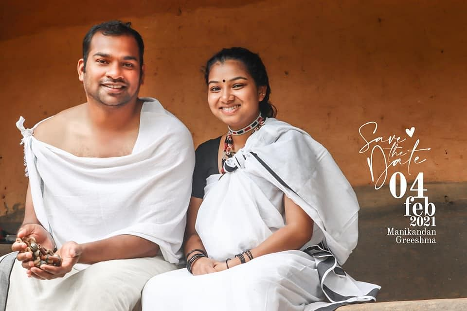 Wayanad couple's 'save the date' photo shoot in tribal wear is trending on social media