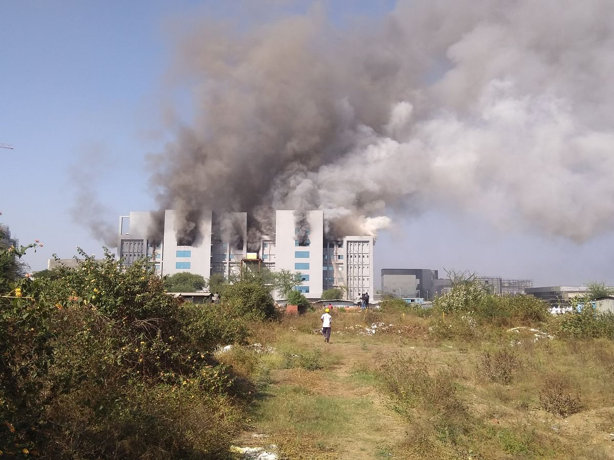 Five dead as fire breaks out at a building in Serum Institute of India in Pune
