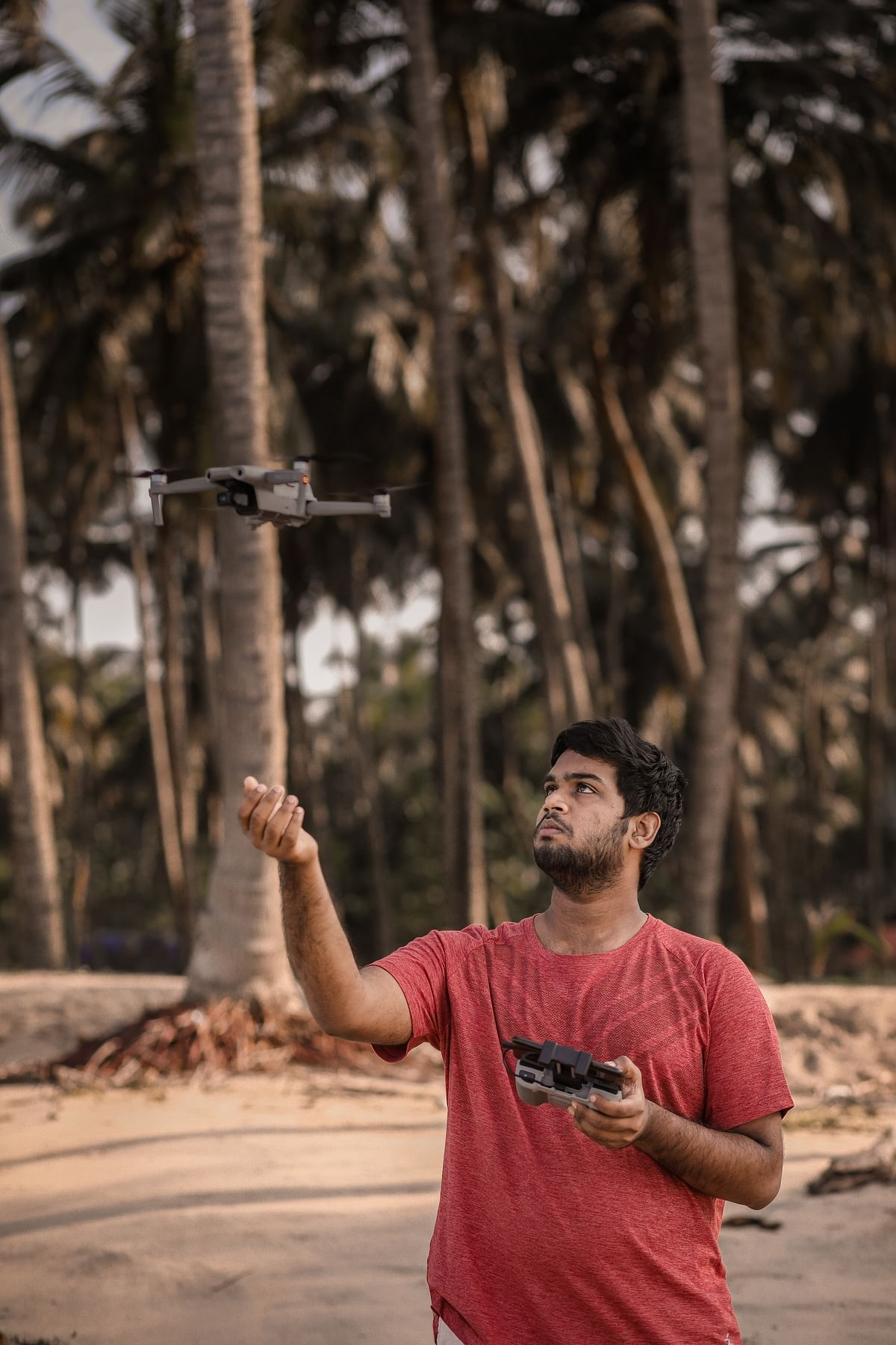 Devang Subil with his drone