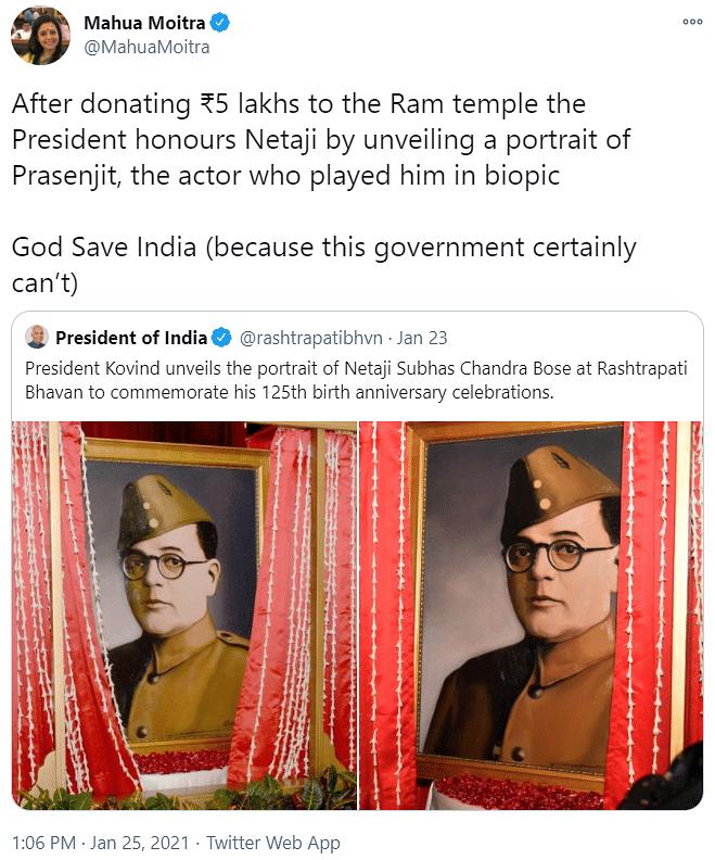 Mahua Moitra's now-deleted tweet