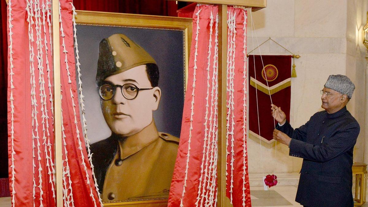 President Ram Nath Kovind unveiling Netaji's portrait creates controversy