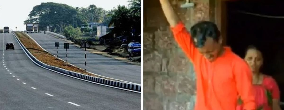 Man threatens suicide amidst land acquisition for NH in Kannur; leader of protest group arrested