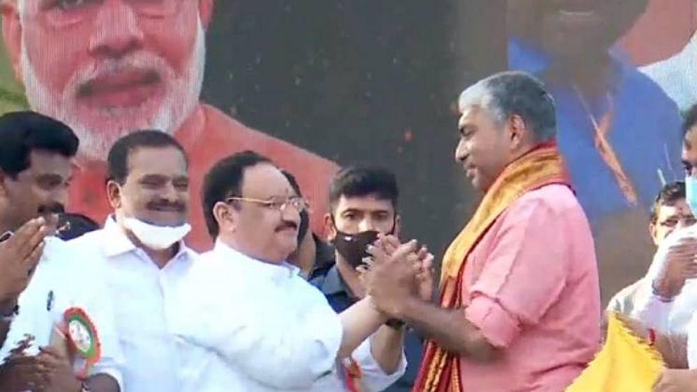 Former Kerala DGP Jacob Thomas joins BJP; JP Nadda accuses LDF of corruption