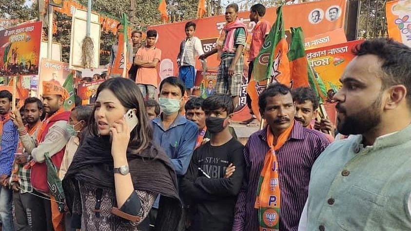 Drug case accused Yuva Morcha leader Pamela Goswami accuses top BJP brass as having part in it