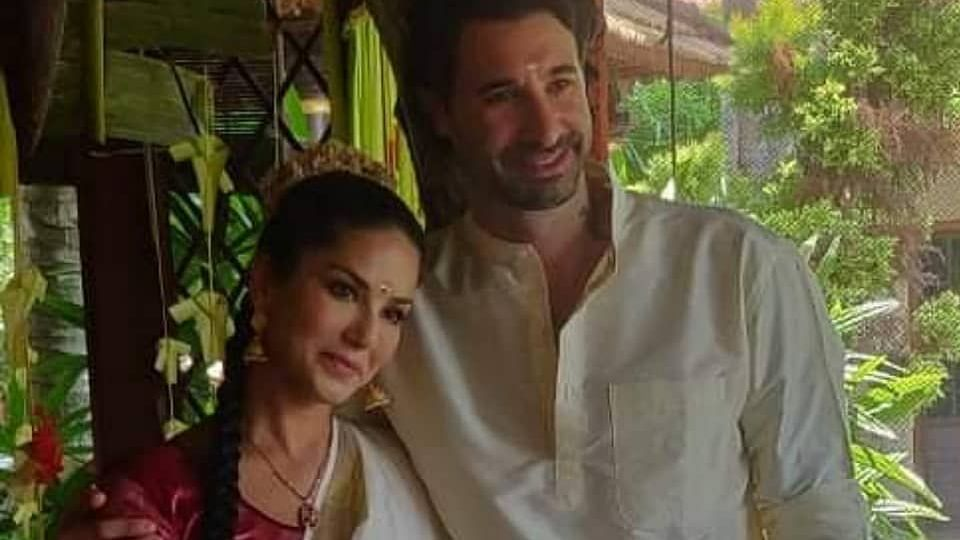 From renewing wedding vows to relishing a sadhya, Sunny Leone's sunny time in Kerala