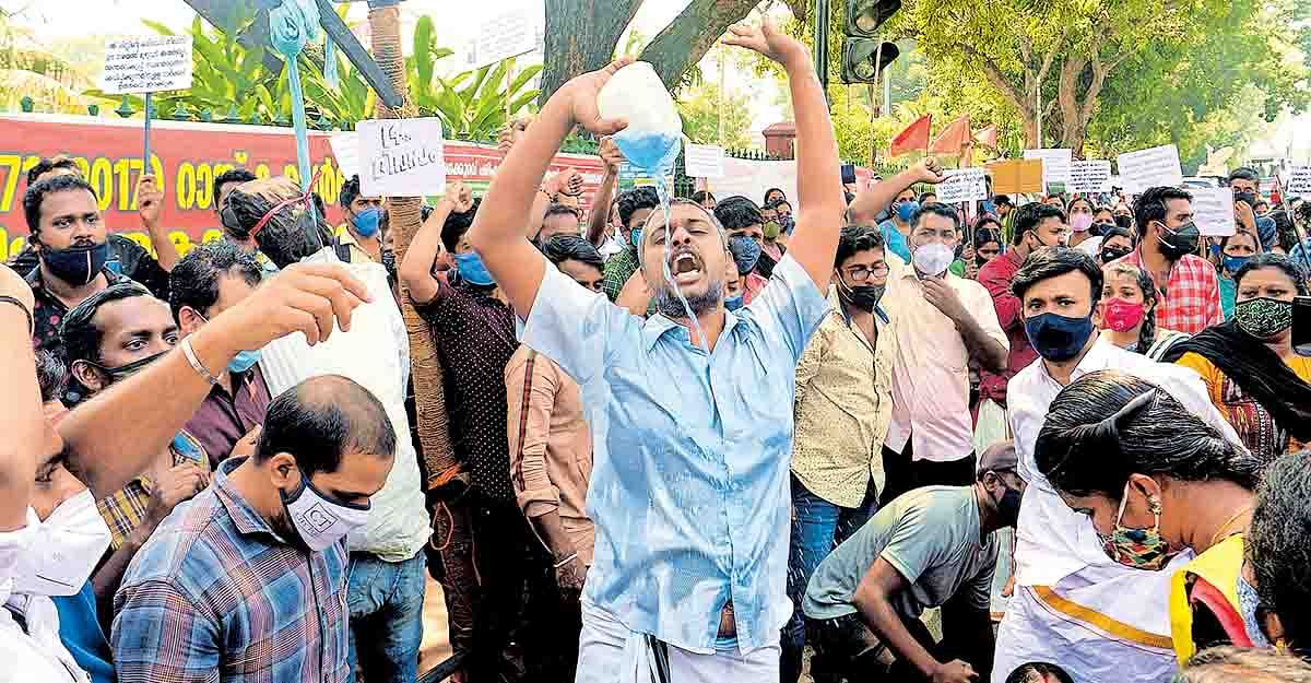 Is the Kerala government following BJP's plan of action while suppressing dissent?