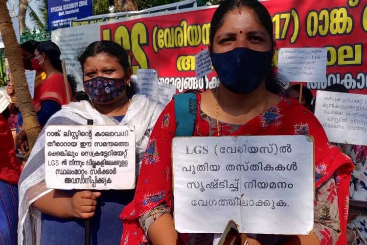 As Kerala cabinet meeting approves backdoor appointments, PSC protestors intensify movement