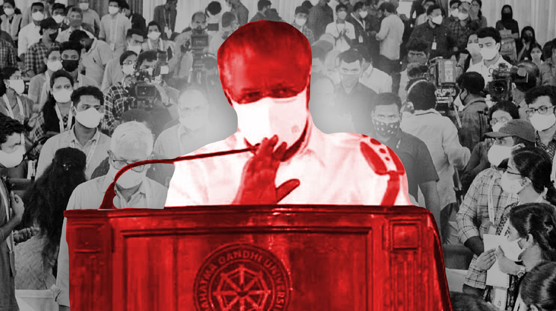 Screening students, no questions, and lack of media coverage: political gimmicks of CM@Campus