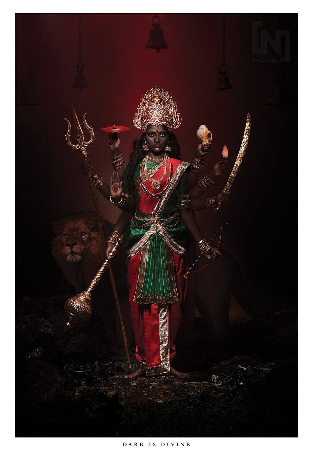 A photo from Naresh Nil's 'Dark is Divine'  series