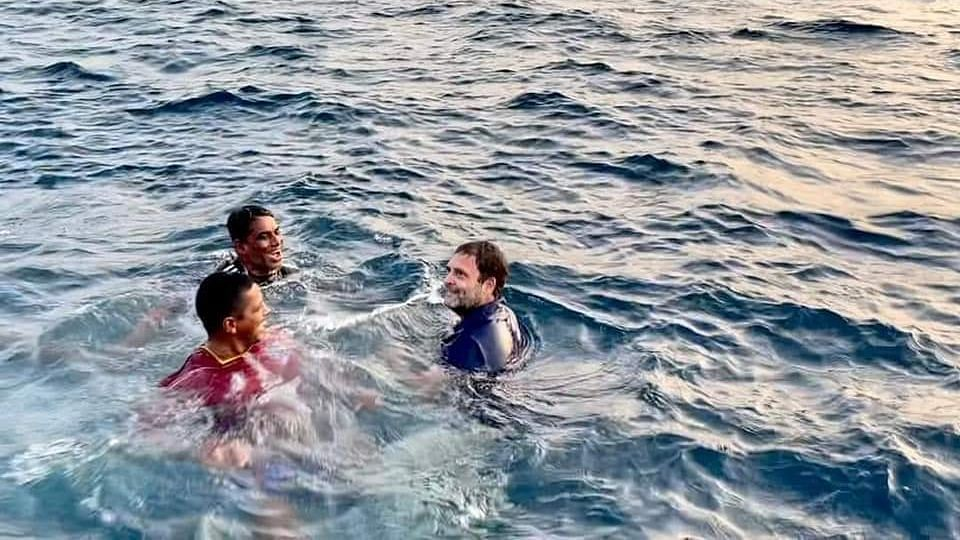 YouTube channel Fishing Freaks' video of Rahul Gandhi diving into the sea with fisherfolk goes viral