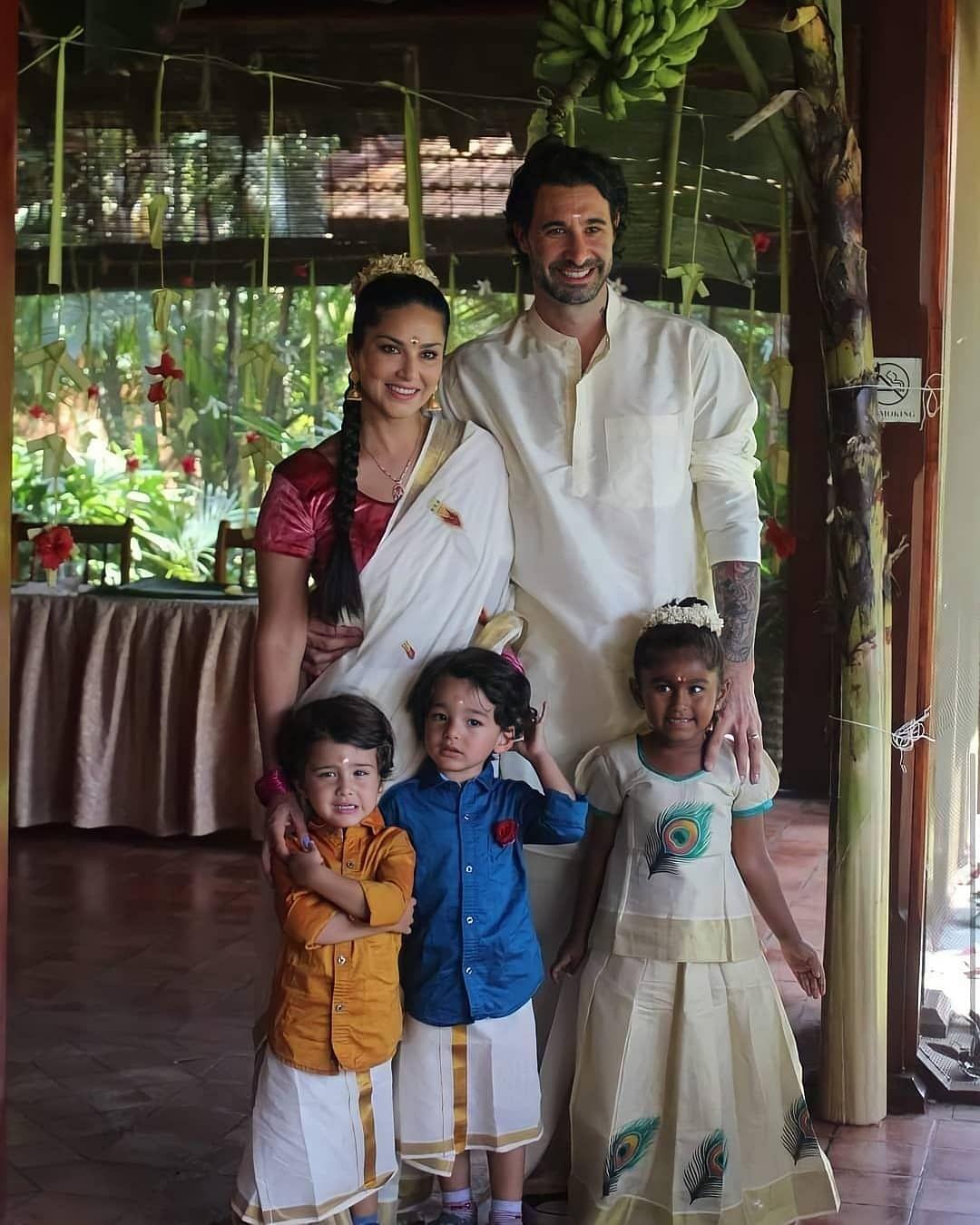 Sunny with husband, Daniel, and children, Nisha, Noah and Asher