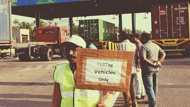 FASTag mandatory from today midnight across toll plaza; pay double toll fee if you don't have it