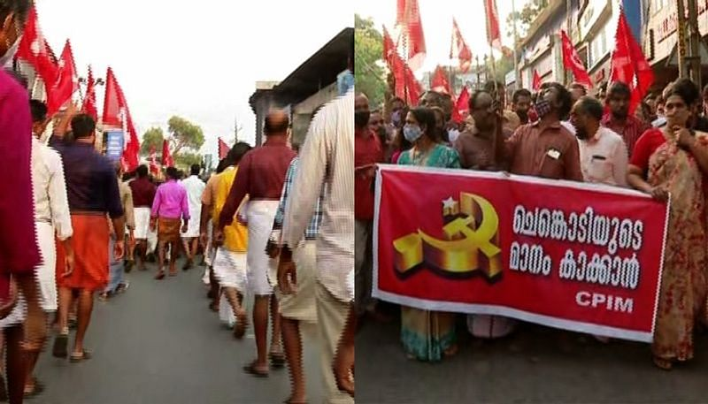 Kuttiadi witnesses massive protest march against CPM state leadership; KC (M) to defer announcement