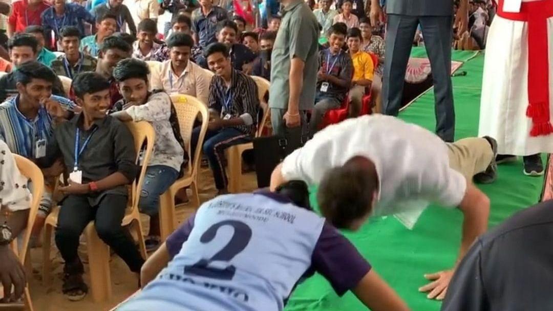 Video of Rahul Gandhi taking push-up challenge in Tamil Nadu goes viral