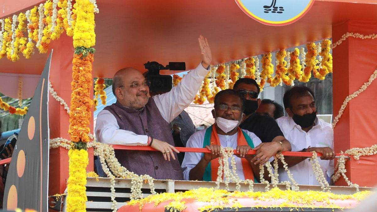 BJP leader Amit Shah targets Kerala CM over gold scam; says Kerala fed up with LDF, UDF