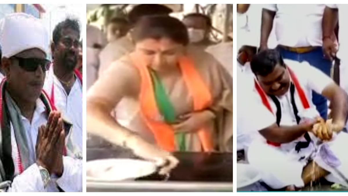 Tamil Nadu Assembly Polls campaign: From washing clothes to MGR lookalikes