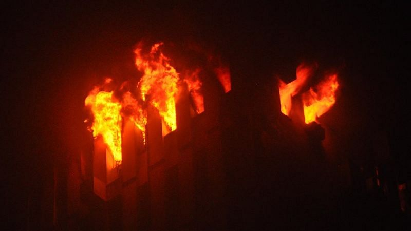 Nine dead, including firemen, as fire erupts at railway headquarters on Strand Road at Kolkata