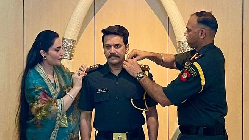 Union Minister Anurag Thakur promoted to rank of Captain in Territorial Army