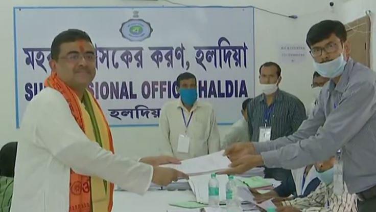 West Bengal elections 2021: Suvendu Adhikari files nomination as BJP candidate for Nandigram seat