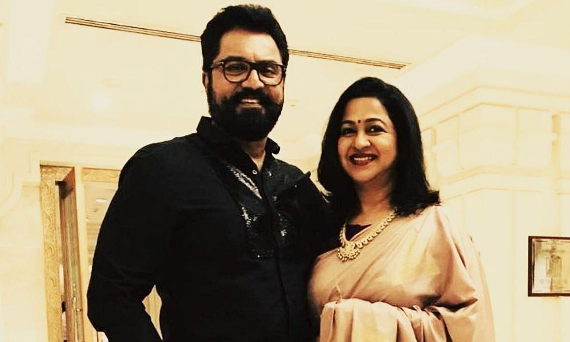 Sarath Kumar and his wife Radikaa