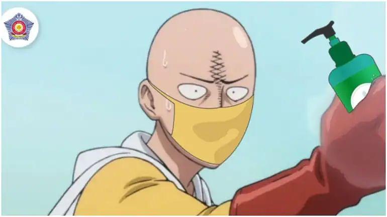Japanese manga character Saitama helps Mumbai Police create awareness on need to sanitize, wear mask