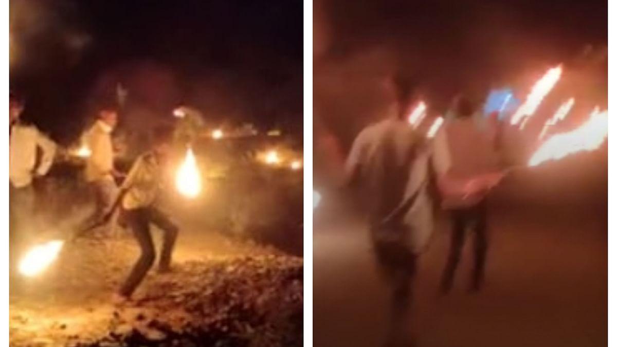 Video of villagers in Madhya Pradesh, crying 'Bhag Corona Bhag', brandishing torches goes viral
